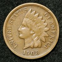 1908-S F CIRCULATED INDIAN HEAD CENT