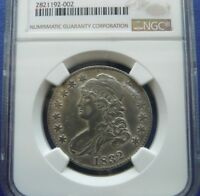 1832P CAPPED BUST 50C NGC EXTRA FINE  DETAILS CLEANED