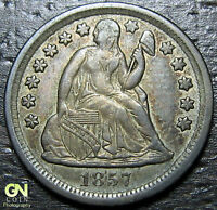 1857 P SEATED DIME  --  MAKE US AN OFFER  W5592 ZXCV
