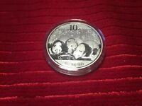 2013 CHINA PANDA UNC ONE OUNCE SILVER COIN