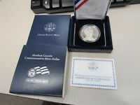 2009 ABRAHAM LINCOLN COMMEMORATIVE $1 DOLLAR SILVER PROOF COIN  11583 LC MS