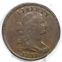 1797 S-136 R-3 PCGS VF 25 DRAPED BUST LARGE CENT COIN 1C