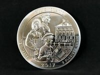 2017 ELLIS ISLAND AMERICA THE BEAUTIFUL 5 OZ SILVER COIN