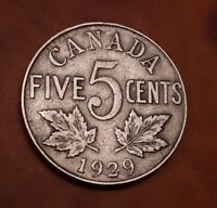 CANADA 5 CENTS 1929 GEORGES V