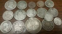 1800 1859 SILVER MIXED FOREIGN COINS COLLECTION LOT