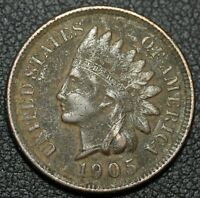 1905 INDIAN HEAD CENT PENNY   FULL 'LIBERTY'   CORROSION