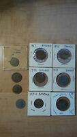 VINTAGE COINS FOREIGN ENGLAND GREECE TURKEY ETC. LOT OF 10