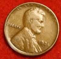 1924 D 1C LINCOLN WHEAT CENT PENNY F COLLECTOR COIN CHECK OUT STORE LW1804