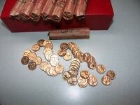 1964 P BU ROLL LINCOLN CENTS FROM OLD COLLECTION UN SEARCHED ROLL FROM MINT BAG