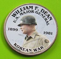 2013 D 50C KENNEDY HALF DOLLAR   GENERAL DEAN   KOREAN WAR FREE DOMESTIC SHIPPIN