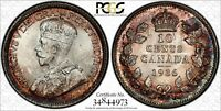CANADIAN SILVER COIN 1936 10 PCGS MS 66  TRENDS $2000  TOP 1