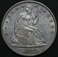 1872 SEATED LIBERTY HALF DOLLAR   BEAUTIFUL