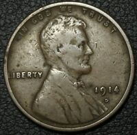 1914 D LINCOLN WHEAT CENT PENNY   KEY DATE
