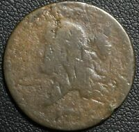 1793 FLOWING HAIR LIBERTY CAP COPPER HALF CENT   SUPER  RARITY