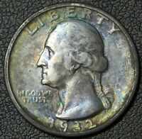 1932 S GEORGE WASHINGTON SILVER QUARTER   KEY DATE