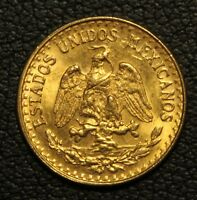 1945 MEXICAN DOS PESOS GOLD COIN   TWO PESOS MEXICO GOLD