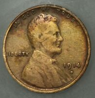 1914 D LINCOLN WHEAT CENT PENNY ICG VG 08 DETAILS   CLEANED