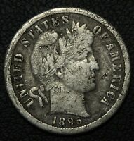 1895 O BARBER SILVER DIME   THE KEY    NICKS
