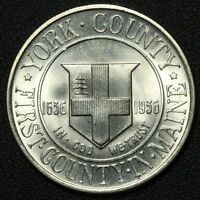 1936 YORK COUNTY SILVER COMMEMORATIVE HALF DOLLAR   LUSTROUS UNCIRCULATED