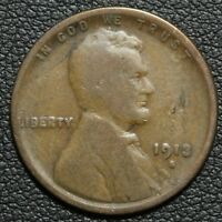 1913 S LINCOLN WHEAT CENT PENNY   OBVERSE LAMINATION ERROR