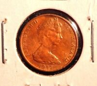 CIRCULATED 1982 1 CENT NEW ZEALAND COIN  72216