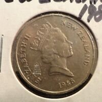 CIRCULATED 1988 20 CENT NEW ZEALAND COIN  72216