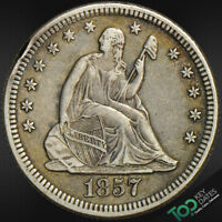 1857-O  25  SEATED LIBERTY QUARTER  EXTRA FINE  EXTRA FINE  5443POU1