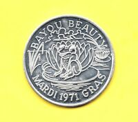 FROG TOKEN  1971 BAYOU BEAUTY COIN