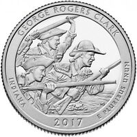 2017 P D&S GEORGE ROGERS CLARK  IN    3 QUARTER SET   UNCIRCULATED