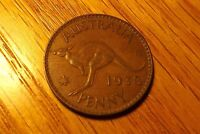 AUSTRALIA 1938 CIRCULATED CONDITION LARGE PENNY  COIN 158