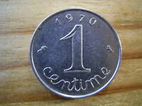 1970  FRANCE  REPUBLIC 1 CENTIME  COIN COLLECTABLE