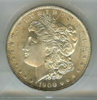 1900-O MORGAN SILVER DOLLAR $1, NEW ORLEANS MINT, 90 SILVER, ICG, MINT STATE 65