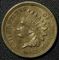 1862 INDIAN HEAD CENT PENNY   NICE    FULL 'LIBERTY'