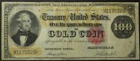 1882 $100 ONE HUNDRED DOLLAR GOLD CERTIFICATE NOTE