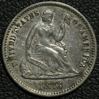 1873 SEATED LIBERTY SILVER HALF DIME