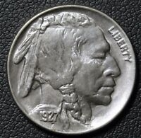 1927 BUFFALO INDIAN HEAD NICKEL   LUSTROUS W/ PURPLE TONING
