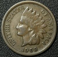 1908 S INDIAN HEAD CENT PENNY