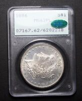 1886 MORGAN SILVER DOLLAR PCGS MS62PL CAC PROOF LIKE OLD RATTLER CAC APPROVED