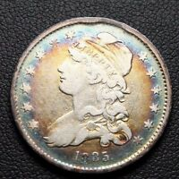 1835 CAPPED BUST SILVER QUARTER TONING
