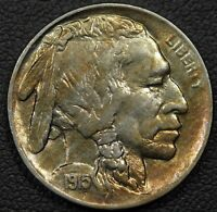1915 BUFFALO INDIAN HEAD NICKEL   LUSTROUS UNC   TONING