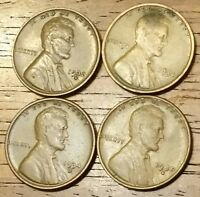 1932D 1934 1934D 1935S LINCOLN WHEAT CENT PENNY FINE TO  FINE