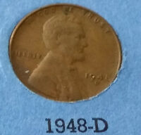 1948 D USA WHEAT CENT- WHAT YOU SEE IS WHAT YOU GET CHEAP