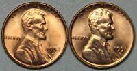 1951 D AND 1952 D LINCOLN WHEAT CENT BU SET