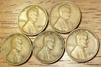 1929 1929D 1929S 1930D 1930S LINCOLN WHEAT CENT PENNY  GOOD TO FINE