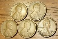 1919 1919D 1920 1920S 1921S LINCOLN WHEAT CENT PENNY GOOD TO FINE