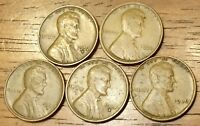 1932D 1934 1935D 1935S 1936 LINCOLN WHEAT CENT PENNY  GOOD TO  FINE