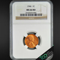 1946  1 LINCOLN WHEAT CENT  NGC MINT STATE 66RD   SOLID GEM BU  2542029-006