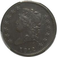 1812 CLASSIC HEAD LARGE CENT - PCGS EXTRA FINE 45 - SMALL DATE -  CHOCOLATE BROWN