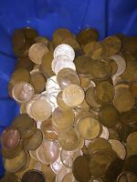 1916-1919   P MINLOT/BAG OF CENTS- ALL DATED 1916-1919 10 ROLLS 500 COINS3