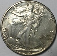 1943-D WALKING LIBERTY 50C  CHOICE WITH SOME LIGHT WEAR